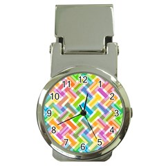 Abstract Pattern Colorful Wallpaper Background Money Clip Watches by Simbadda