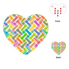 Abstract Pattern Colorful Wallpaper Background Playing Cards (Heart)
