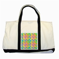 Abstract Pattern Colorful Wallpaper Background Two Tone Tote Bag