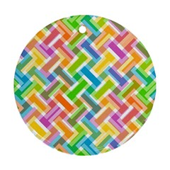 Abstract Pattern Colorful Wallpaper Background Round Ornament (Two Sides)