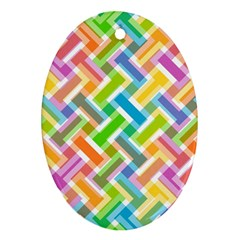 Abstract Pattern Colorful Wallpaper Background Oval Ornament (Two Sides)