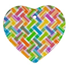 Abstract Pattern Colorful Wallpaper Background Heart Ornament (Two Sides)