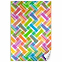 Abstract Pattern Colorful Wallpaper Background Canvas 12  x 18
