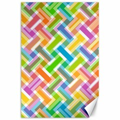Abstract Pattern Colorful Wallpaper Background Canvas 24  x 36