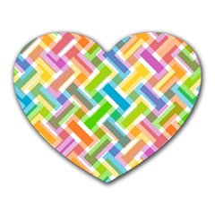 Abstract Pattern Colorful Wallpaper Background Heart Mousepads
