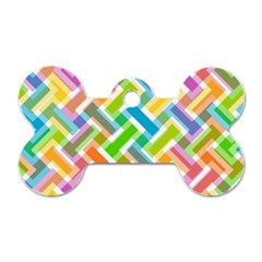 Abstract Pattern Colorful Wallpaper Background Dog Tag Bone (One Side)