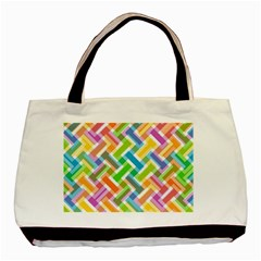 Abstract Pattern Colorful Wallpaper Background Basic Tote Bag (Two Sides)