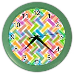 Abstract Pattern Colorful Wallpaper Background Color Wall Clocks