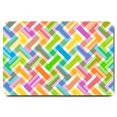 Abstract Pattern Colorful Wallpaper Background Large Doormat