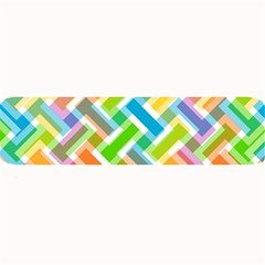 Abstract Pattern Colorful Wallpaper Background Large Bar Mats