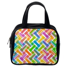 Abstract Pattern Colorful Wallpaper Background Classic Handbags (One Side)