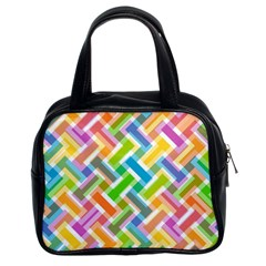 Abstract Pattern Colorful Wallpaper Background Classic Handbags (2 Sides)
