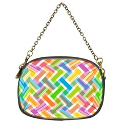 Abstract Pattern Colorful Wallpaper Background Chain Purses (One Side)