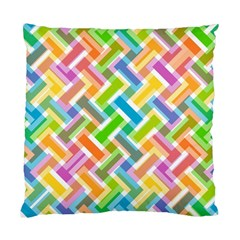 Abstract Pattern Colorful Wallpaper Background Standard Cushion Case (Two Sides)