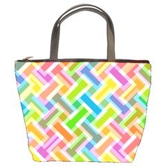 Abstract Pattern Colorful Wallpaper Background Bucket Bags