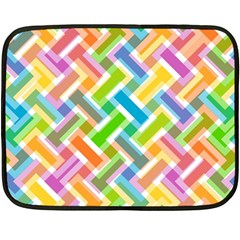 Abstract Pattern Colorful Wallpaper Background Double Sided Fleece Blanket (Mini)