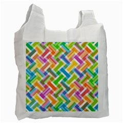 Abstract Pattern Colorful Wallpaper Background Recycle Bag (One Side)