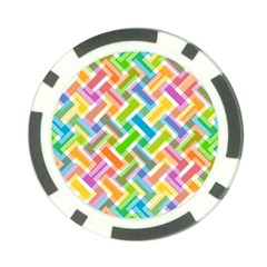 Abstract Pattern Colorful Wallpaper Background Poker Chip Card Guard (10 pack)