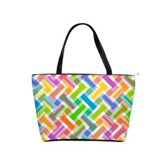 Abstract Pattern Colorful Wallpaper Background Shoulder Handbags
