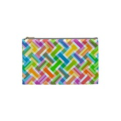 Abstract Pattern Colorful Wallpaper Background Cosmetic Bag (Small)