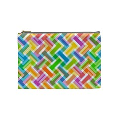 Abstract Pattern Colorful Wallpaper Background Cosmetic Bag (Medium)
