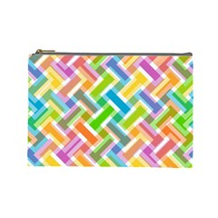 Abstract Pattern Colorful Wallpaper Background Cosmetic Bag (Large)