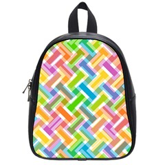 Abstract Pattern Colorful Wallpaper Background School Bags (Small)