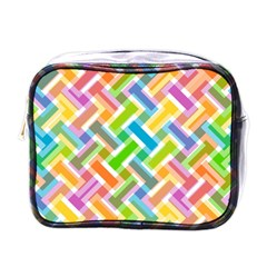 Abstract Pattern Colorful Wallpaper Background Mini Toiletries Bags
