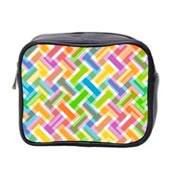 Abstract Pattern Colorful Wallpaper Background Mini Toiletries Bag 2 Side by Simbadda