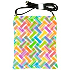 Abstract Pattern Colorful Wallpaper Background Shoulder Sling Bags by Simbadda