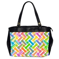 Abstract Pattern Colorful Wallpaper Background Office Handbags (2 Sides)