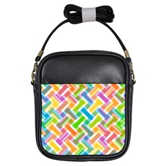 Abstract Pattern Colorful Wallpaper Background Girls Sling Bags