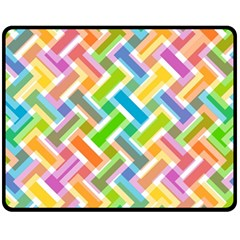 Abstract Pattern Colorful Wallpaper Background Fleece Blanket (Medium)