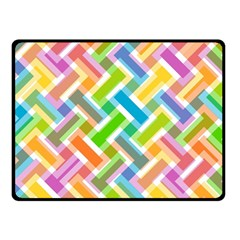 Abstract Pattern Colorful Wallpaper Background Fleece Blanket (Small)