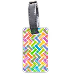 Abstract Pattern Colorful Wallpaper Background Luggage Tags (One Side)