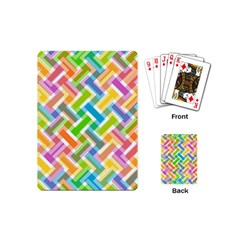 Abstract Pattern Colorful Wallpaper Background Playing Cards (Mini)
