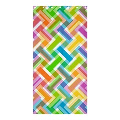 Abstract Pattern Colorful Wallpaper Background Shower Curtain 36  x 72  (Stall)