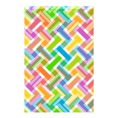 Abstract Pattern Colorful Wallpaper Background Shower Curtain 48  x 72  (Small)