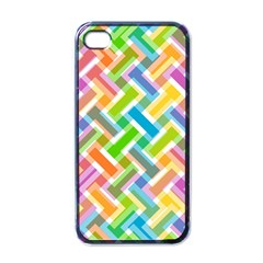 Abstract Pattern Colorful Wallpaper Background Apple iPhone 4 Case (Black)