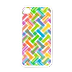 Abstract Pattern Colorful Wallpaper Background Apple iPhone 4 Case (White)