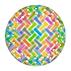 Abstract Pattern Colorful Wallpaper Background Ornament (Round Filigree)