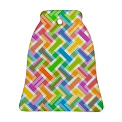 Abstract Pattern Colorful Wallpaper Background Bell Ornament (Two Sides)