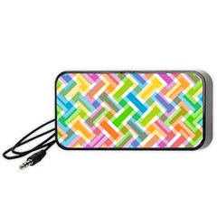Abstract Pattern Colorful Wallpaper Background Portable Speaker (Black)