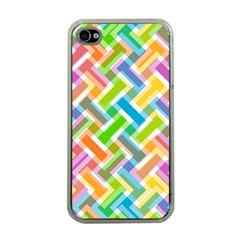 Abstract Pattern Colorful Wallpaper Background Apple iPhone 4 Case (Clear)