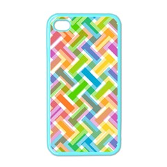 Abstract Pattern Colorful Wallpaper Background Apple iPhone 4 Case (Color)