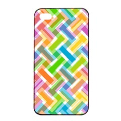 Abstract Pattern Colorful Wallpaper Background Apple iPhone 4/4s Seamless Case (Black)