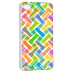Abstract Pattern Colorful Wallpaper Background Apple iPhone 4/4s Seamless Case (White)