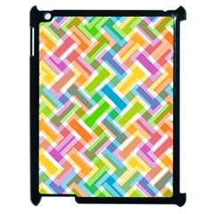 Abstract Pattern Colorful Wallpaper Background Apple iPad 2 Case (Black)