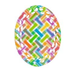Abstract Pattern Colorful Wallpaper Background Ornament (Oval Filigree)