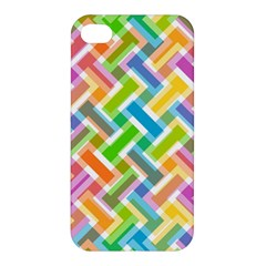 Abstract Pattern Colorful Wallpaper Background Apple iPhone 4/4S Hardshell Case